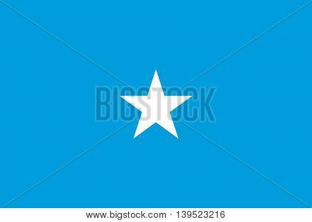 Vector Somalia flag