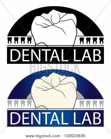 Dental Lab is an Illustration of a design for a Dental Lab or any dental related business. Includes teeth graphics and comes in a black and white and full color version.