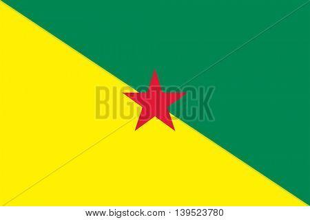 Vector French Guiana flag