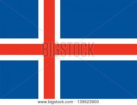 Vector Iceland flag