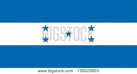 Vector Republic of Honduras flag