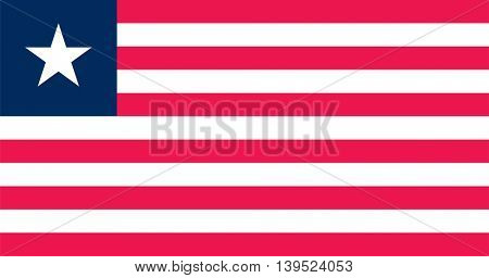 Vector Republic of Liberia flag