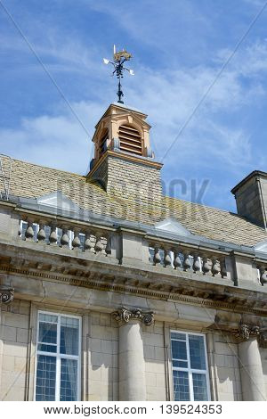 Crewe town hall / municipal building and war memorial, Crewe, Cheshire, UK