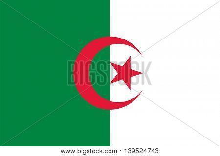 Vector Republic of Algeria flag