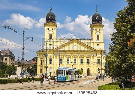 Kossuth Square In Debrecen City, Hungary