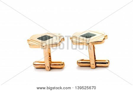 elegant, diamond cufflinks on a white background
