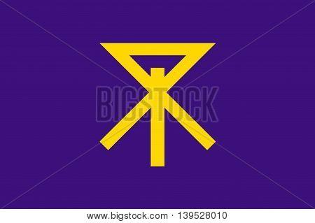 Japan Osaka prefecture Osaka city flag illustration
