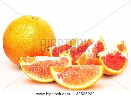 Beautifully arrange slices of orange, ready to be eaten.