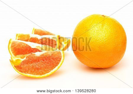 Orange fruit represent a healthy diet in society.