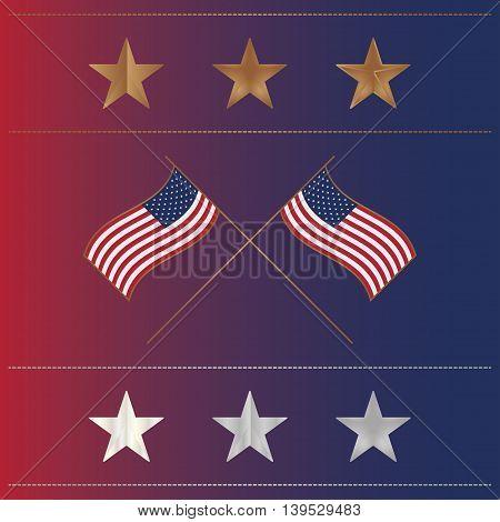 Usa Flags 14