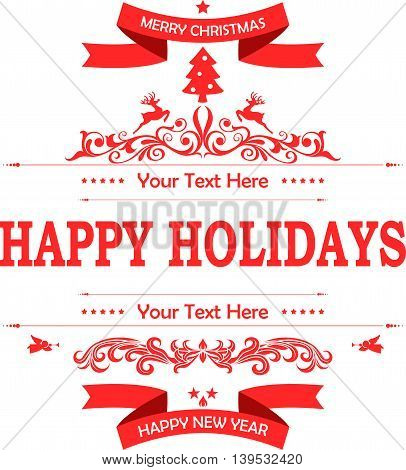 Christmas decoration on white background for you design