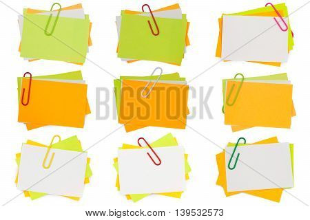 Note Papers With Paperclip Collection
