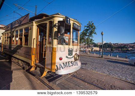 PORTO, PORTUGAL - JUL 9, 2016: Views of one of the streets in the historical center of city. City of Porto won the European Best Destination 2012 and 2014 awards.