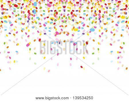 colorful confetti on white background for you design