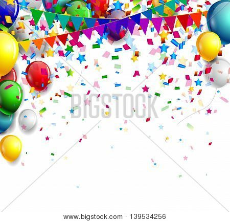 birthday background with balloon for you design