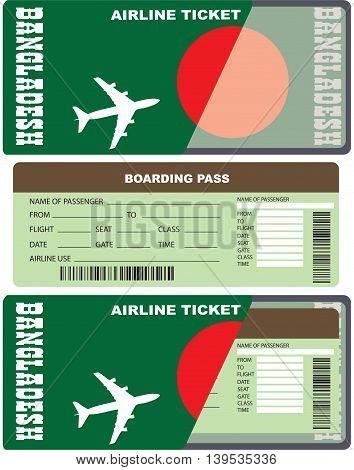 Boarding pass for the passenger in Bangladesh.