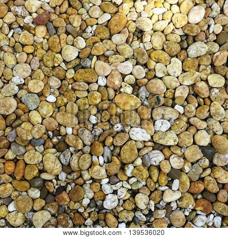 brown mixed Stone pebble texture background nature