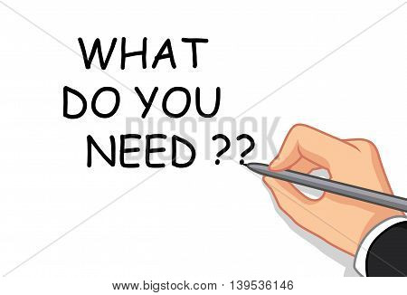 hand writing what do you need ?