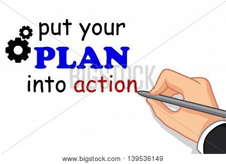 hand writing plan concept for you design