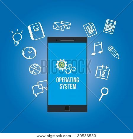 OS operating system on mobilephone vector illustration