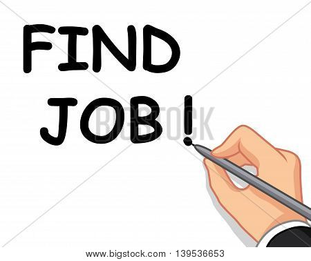 hand writing find job for you design