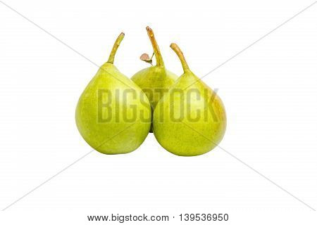 Pears Vith Dry Leaf