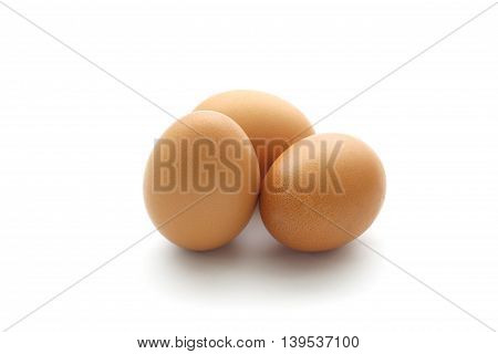 close up egg isolated on white background