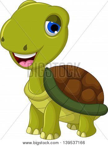 cut litle cartoon turtle for you design