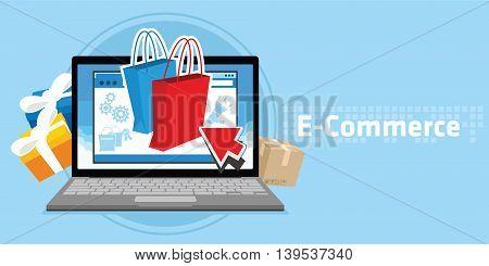ecommerce online store vector illustration design concept