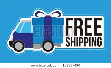 free shipping delivery service vector illustration design concept