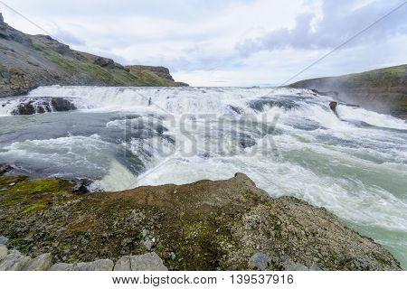 The Gullfoss Waterfall