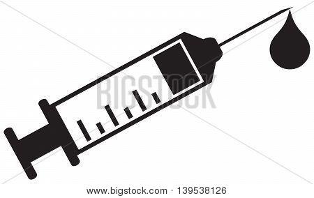 Syringe Icon injecting simplicity symbol medicine healthcare