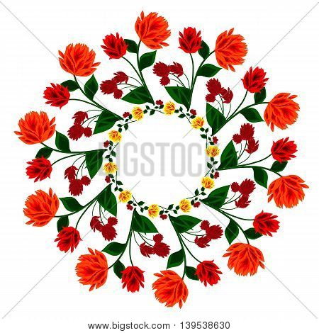 Illustration flower mandala for logo discount cards sales. It can be used as a sign of the restaurant the menu or store decoration flowers for a holiday or for other applications