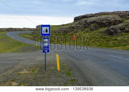 The Ring Road  Landscape And Road Signs