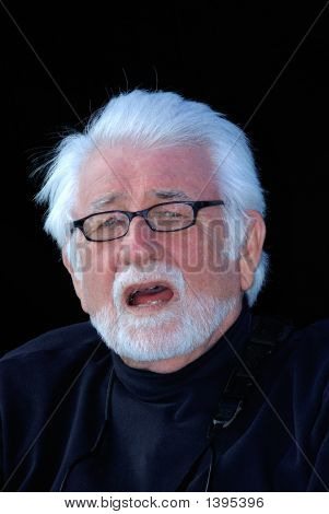 Portrait Of A Man With Silver Hair