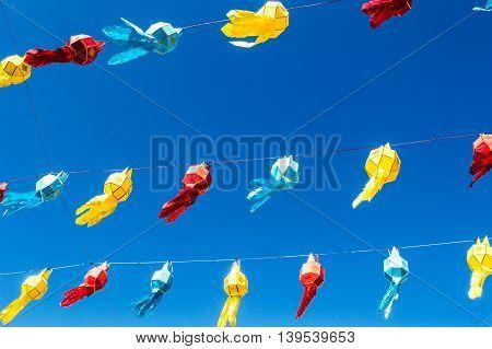 Lanna lantern festival decoration in Lampang Thailand