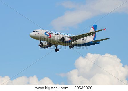 SAINT PETERSBURG, RUSSIA - MAY 17, 2016: The Airbus A329 (VQ-BCZ) of airline
