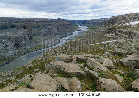 Jokulsa A Fjollum River, Iceland