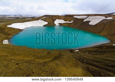 Crater Pool On The Krafla Volcano