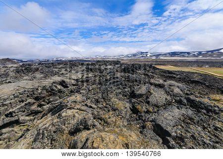Landscape On The Krafla Volcano