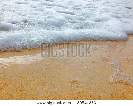 The brilliant white sand and clean waters