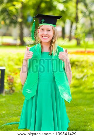 Thumbs Up For Graduation