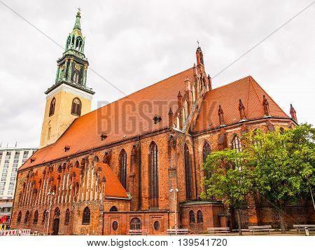 Marienkirche In Berlin Hdr