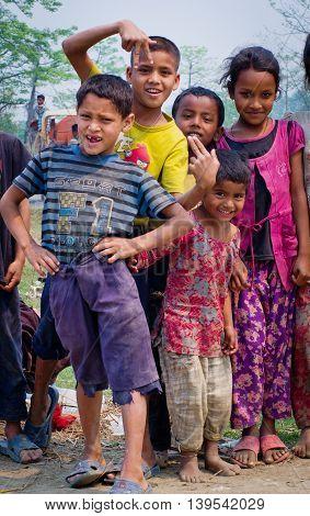 Nepalese Children In Chitvan, Nepal
