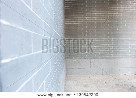 Perspective View Of Brick Wall At Park.
