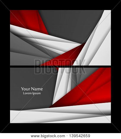 Vector business cards set. Elements for design, annual reports, brochures. Eps10
