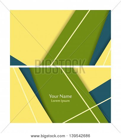 Vector business cards set. Material design. Elements for design, annual reports, brochures. Eps10