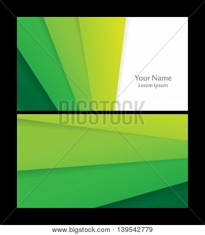 Vector business cards set. Material design style.  Elements for design, annual reports, brochures. Eps10