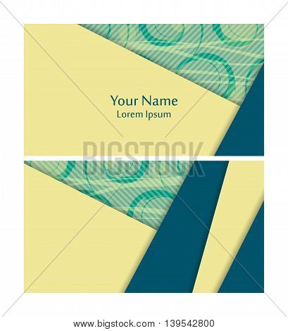 Vector business cards set with ornament. Elements for design, annual reports, brochures. Eps10