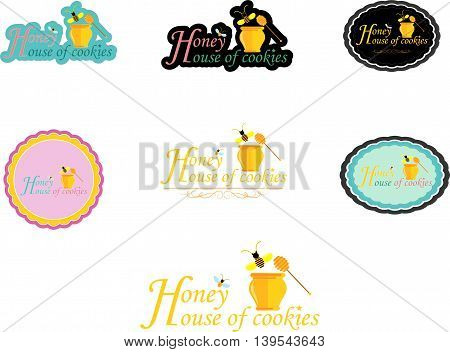 set of honey house of cookies background